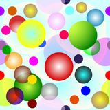Vector seamless  with circles. Vector seamless background with circles Stock Photo