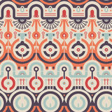 Vector Seamless Circles Concept Pattern. Abstract Art Modern Pattern in Tech Style royalty free illustration