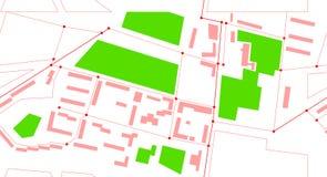 Vector seamless city map Stock Photos