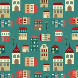 Vector seamless city pattern Royalty Free Stock Photos