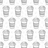 Vector seamless coffee pattern Royalty Free Stock Images