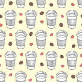 Vector seamless coffee pattern Stock Photography