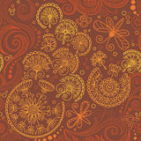 Vector seamless color floral pattern Royalty Free Stock Photo