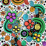 Vector seamless color floral pattern Royalty Free Stock Images