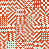 Vector Seamless Color Overlay Irregular Geometric Blocks Square Quilt Pattern Royalty Free Stock Image