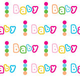 Vector seamless color pattern for baby Stock Photos
