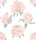 Vector seamless colored background with roses vector illustration