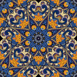 Vector Seamless Colored Ornate Pattern Stock Images