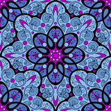 Vector Seamless Colored Ornate Pattern Royalty Free Stock Photos