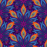 Vector Seamless Colored Ornate Pattern Stock Image