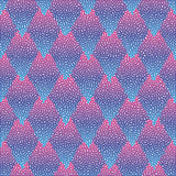 Vector seamless colorful abstract geometric dotted pattern. Royalty Free Stock Photography