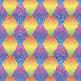 Vector seamless colorful abstract geometric dotted pattern. Stock Photo