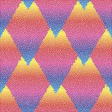Vector seamless colorful abstract geometric dotted pattern. Stock Photography