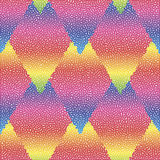 Vector seamless colorful abstract geometric dotted pattern. Stock Images