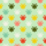 Geometric pattern in spring colors Royalty Free Stock Image