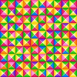 Vector seamless colorful 3d geometric pattern from square blocks. Origami style. vector illustration
