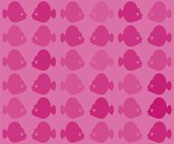 Vector seamless colorful fish pattern with tropical fish in different colors. Endless tiled background for textile Stock Images