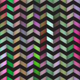 Vector Seamless Colorful Gradient ZigZag Black Line Bright Polygons Pattern. Abstract Background Royalty Free Stock Image