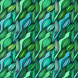 Vector seamless colorful hand drawn pattern. Wave fantasy backgr Royalty Free Stock Photography