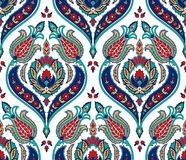 Vector seamless colorful pattern in turkish style. Vintage decorative background. Hand drawn ornament. Islam, Arabic. Ottoman motifs. Wallpaper, fabric print vector illustration