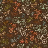 Vector seamless colorful retro vintage bicycle Royalty Free Stock Photo