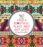 Vector seamless colorful tribal pattern Royalty Free Stock Image