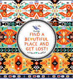Vector seamless colorful tribal pattern Royalty Free Stock Photography