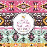 Vector seamless colorful tribal pattern Royalty Free Stock Images