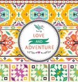 Vector seamless colorful tribal pattern. Vector seamless colorful pattern in tribal style Stock Images