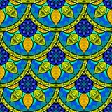 Vector Seamless Colour Mandala Pattern Royalty Free Stock Photo