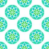 Vector Seamless Colour Mandala Pattern Royalty Free Stock Photography