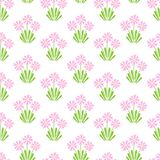 Endless spring blossom field pattern. Vector seamless colourful repeating pattern with early spring blooming flowers such as snowdrops, mascara, primrose Royalty Free Stock Photo