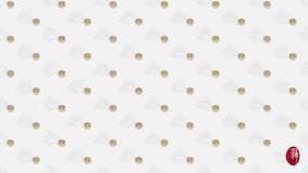 Vector Seamless continuous wallpaper tile. Royalty Free Stock Images