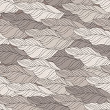Vector Seamless Contour beige waves Pattern. Royalty Free Stock Photos
