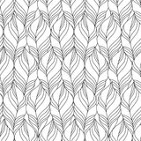 Vector Seamless Contour Pattern. Stock Photography
