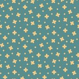 Vector seamless cross pattern in retro memphis style, fashion 80s - 90s. Vintage creative background.  royalty free illustration