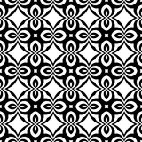 Vector seamless curve pattern black and white. abstract background wallpaper. vector illustration. vector illustration