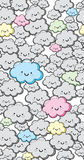 Vector Seamless Cute Clouds Background stock image