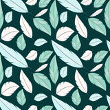 Vector seamless cute feather boho pattern. Vector seamless cute feather boho Royalty Free Stock Photo
