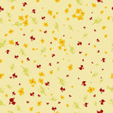 Vector seamless cute floral pattern in childish Stock Photo