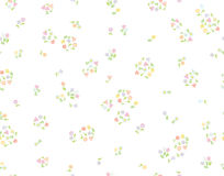 Vector seamless cute floral pattern. Stock Image