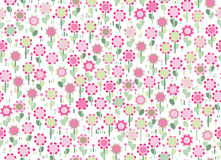 Vector seamless cute  floral pattern. Royalty Free Stock Image