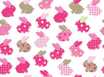 Vector seamless cute  rabbits  pattern. Royalty Free Stock Photos