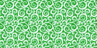 Vector seamless 3d ornament on green background royalty free illustration