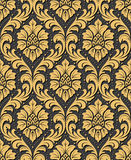 Vector seamless damask ornament background. Luxury old fashioned damask ornament, royal victorian seamless texture for wallpapers, textile, wrapping. Exquisite Stock Photos