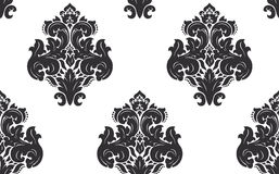 Vector. Seamless damask pattern Royalty Free Stock Photography