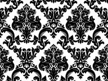 Vector. Seamless damask pattern royalty free illustration