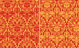 Vector. Seamless damask pattern. Royalty Free Stock Photo