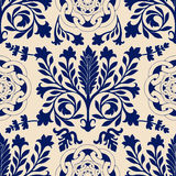 Vector seamless damask pattern, classic walpapper, background Royalty Free Stock Photography