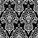 Vector seamless damask wallpaper Royalty Free Stock Images